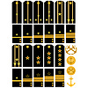 Vector clipart: Shoulder straps with signs of Russian Navy