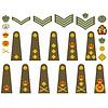 英国陆军徽章 | 向量插图