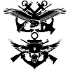 Vector clipart: Signs of Navy