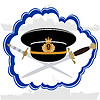 Vector clipart: Officers cap Russian Navy officer and daggers