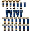 Insignia Marineoffiziere der Konföderation