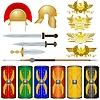 Waffen und Symbole der römischen Legionäre