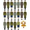 Militäruniformen der Sowjetarmee und see-