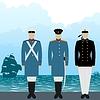 Uniformen Segler zaristischen Russland