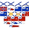 Vector clipart: Navy flags and pennants Russia (since 1992)