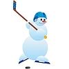 Hockey Spieler-