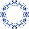 Weiß-blaue dekorative Gschel-Rahmen