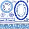 Weiß-blau dekorativen Rahmen und Muster