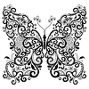 ID 3471159 | Dekorative fantasy butterfly | Stock Vektorgrafik | CLIPARTO