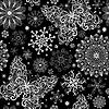 圣诞复古的无缝模式 | 向量插图