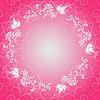 Rosa Blumen Frühling Spitzen-Rahmen