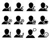 Amt und Menschen Icon-Set
