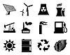 Strom, Leistung und Energie - Set von Icons