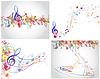 ID 3389599 | Mehrfarbige musikalische Designs | Stock Vektorgrafik | CLIPARTO