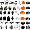 Set von Halloween-Icons