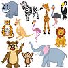 Set von 12 Cartoon Animals