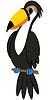 Lustige Cartoon-Toucan