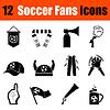 Set von Fußball-Fans Icons