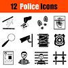 Set Polizei Ikonen
