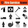 Set Feuerwehr-Icons