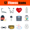 Flaches Design Fitness-Icon-Set
