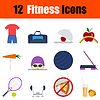 Flaches Design Fitness-Icon-Set