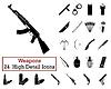 Set von 24 Waffen Icons