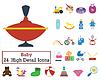 Set von 24 Baby Icons
