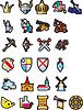 Set mittelalterlichen Ikonen