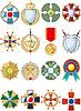 Set von verschiedenen Medaillen