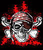 Vector clipart: Jolly Roger pirate symbol with crossed bones
