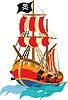 Lustiger Piratenschiff