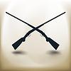 Piktogramm gekreuzten Schrotflinte