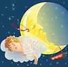 Amor und Mond | Stock Vektrografik