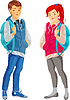 Jugendliche | Stock Vektrografik