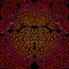 Goldenes Blumenmuster auf dunklem Hintergrund | Stock Illustration
