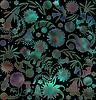 Bunten abstrakten Blumenmuster auf unscharfen Hintergrund | Stock Illustration