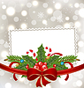 Weihnachten elegante Karte mit Urlaub Dekoration