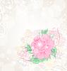 Abstrakte romantische Feier-Karte mit Blumen
