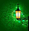 Arabische Lampe mit Lichtern, Ramadan-Karte