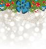 Weihnachten leuchtenden Hintergrund mit Urlaub Dekoration
