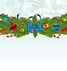 Weihnachten Hintergrund mit Urlaub Dekoration