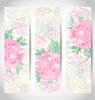 Set romantische schöne Karten mit Blumen
