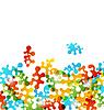 Set figuras de colores del rompecabezas estilizada | Ilustración vectorial