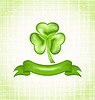 Shamrock mit Farbband für Saint Patrick Tag