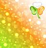 Shamrock in irischen Flagge Farben für saint patrick Tag