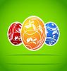 Zestaw kolorowe ozdobne jaja wielkanocne | Stock Vector Graphics