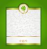 Karte mit Klee für St. Patrick Tag