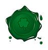 Stempel mit Klee für St. Patrick Tag