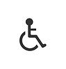 Piktogramm Behinderten in Rollstuhl